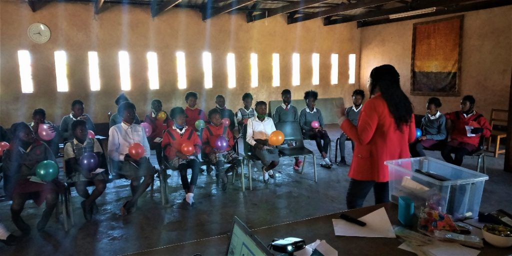 Teaching children about dignity at Zambian school