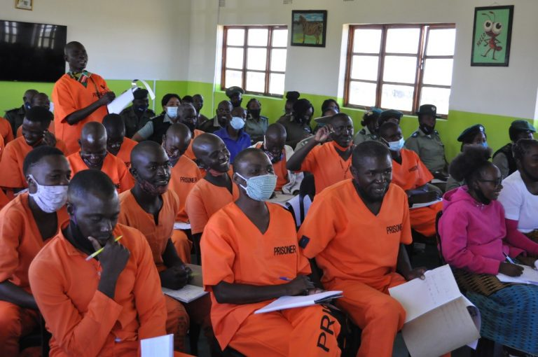 Inmates of the notorious Mukobeko prison
