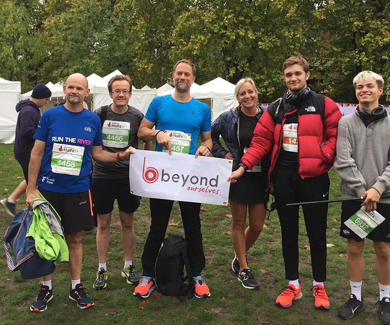 Group getting involved by running the Royal Parks half marathon to fundraise for Beyond Ourselves